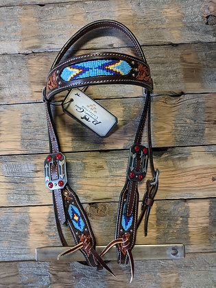 Pro Choice Beaded Headstall and Breast collar