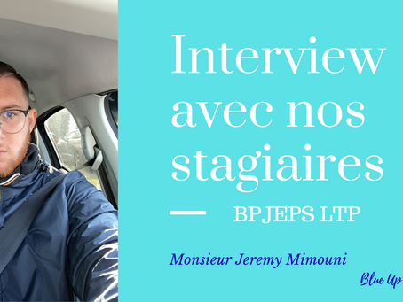 Témoignage d'un stagiaire en #BPJEPS LTP : portrait de Jeremy Mimouni.
