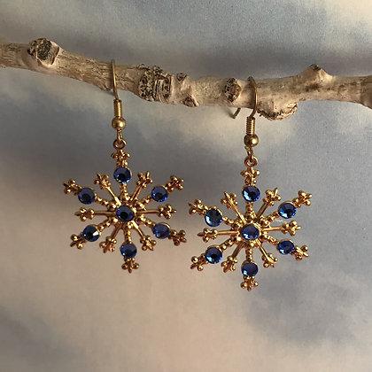 Large Snowflake Earrings #843ESAPPHIRE