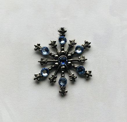 Large Snowflake Pin #843LTBLUE