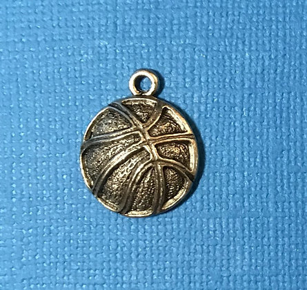 Basketball Charm (large silver)