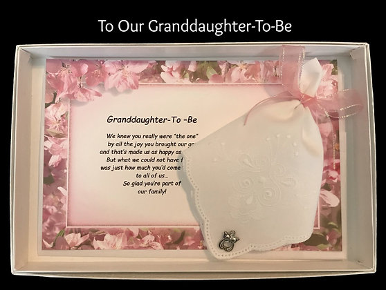 Our Granddaughter-To-Be Hankie & Angel Pin Gift Set