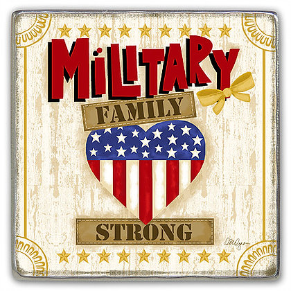 Military Family Strong Visor Clip Front View