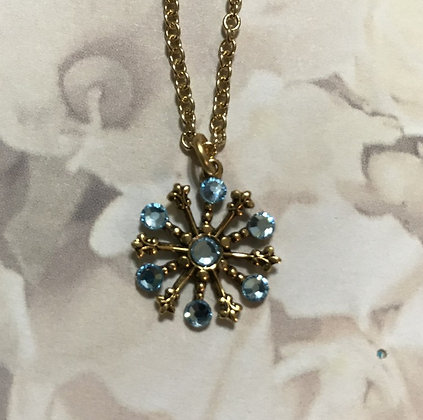 Small Snowflake Necklace #844NAQUA