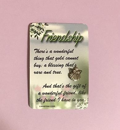 Friendship Poem Card & Angel Pin Set #112