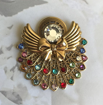 Birthstone Angel pin  (22stones)  #212 double