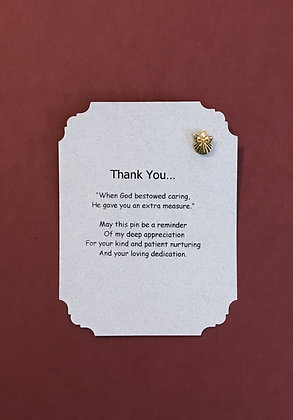 Thank You (For a Caregiver) Angel Pin Set #112