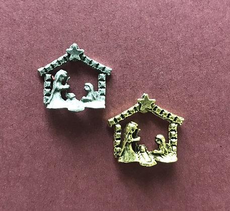 Small Nativity Pin