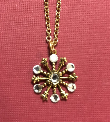 Small Snowflake Necklace #844NClear