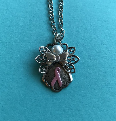 Cancer Awareness Angel Necklace #106P