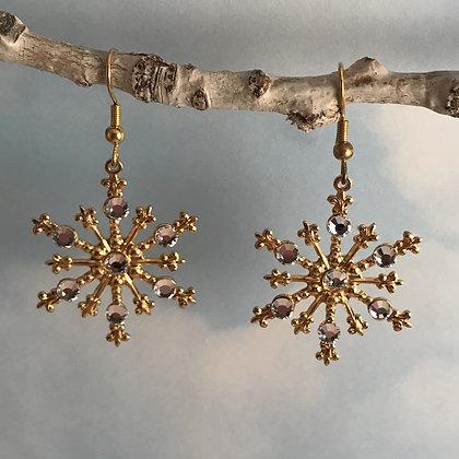 Large Snowflake Earrings #843ECLEAR