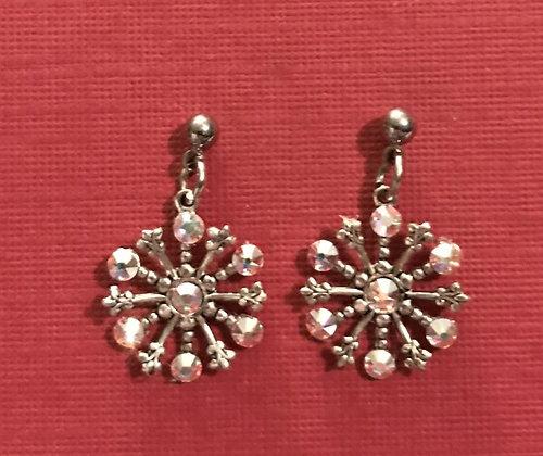 Small Snowflake Earrings #844EAB