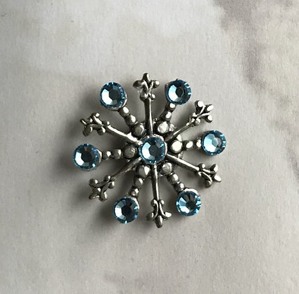 Medium Snowflake Pin #842Aqua