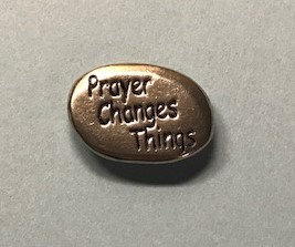 Prayer Changes Things Pocket Stone