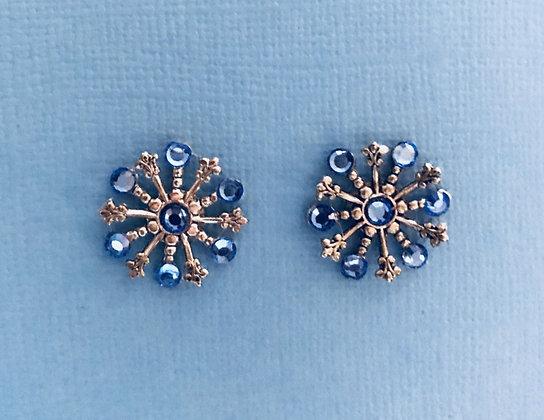 Small Snowflake Earrings #844ESAPPHIRE