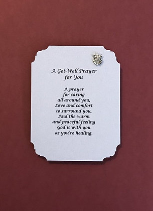 Get Well Poem and Angel Pin Set #139