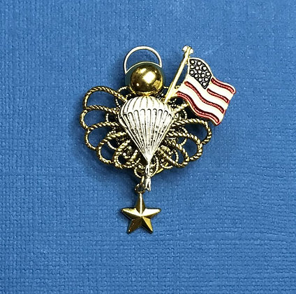 Airborne Gold Star Mother's Angel Pin #788