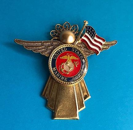Marines Angel Pin w/ Flag  #804GWOFLG