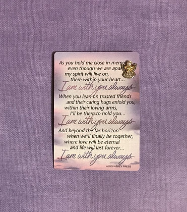 I Am With You Always Angel Pin Set #103