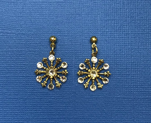 Small Snowflake Earring #844ECLEAR