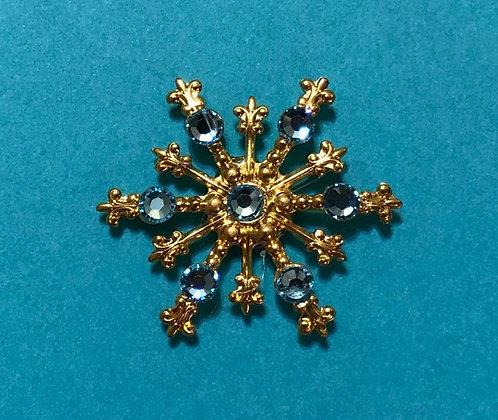 Large Snowflake Pin #843AQUA