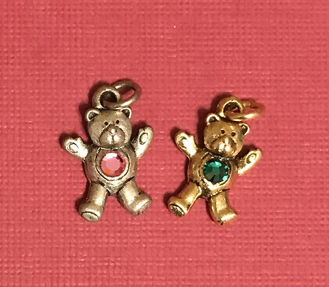 Birthstone Bears Charm