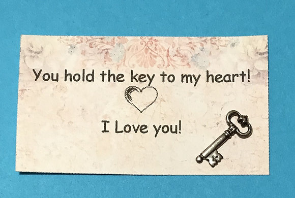 Key to my Heart Token and Card