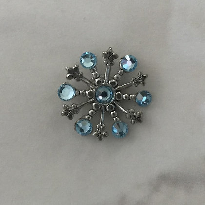 Small Snowflake Pin #844AQUA