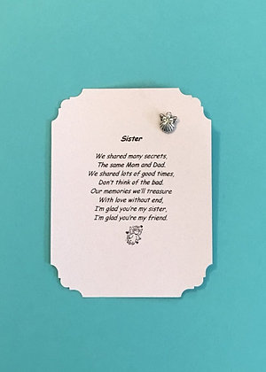 Sister Poem and Angel Pin