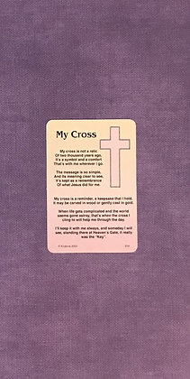 My Cross Poem Card