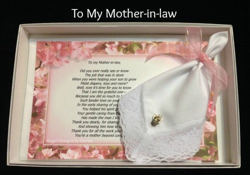 To My Mother-in-law Angel Pin Gift Set