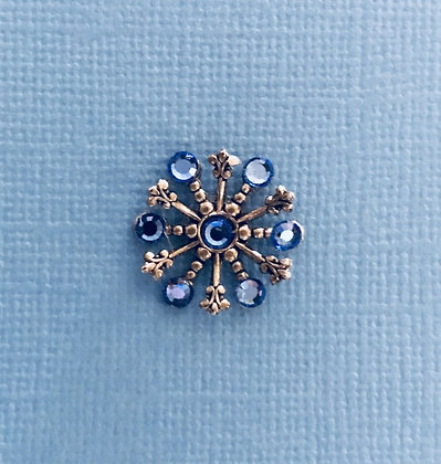 Small Snowflake Pin #844SAPPHIRE