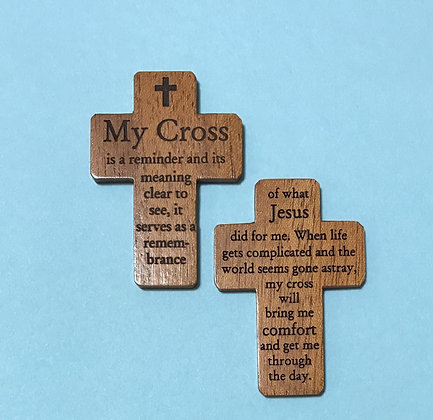 MY CROSS Wooden Pocket Cross