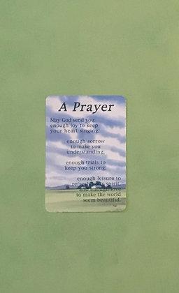 A Prayer Poem Card