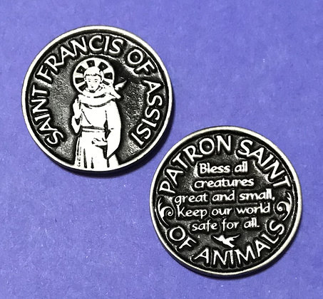 St. Francis of Assisi Token Patron Saint of Animals