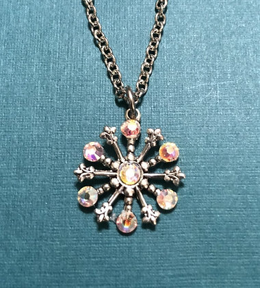 Small Snowflake Necklace #844NAB