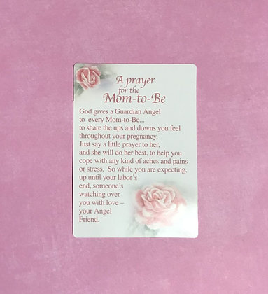 A Prayer for the Mom-to-Be Poem Card
