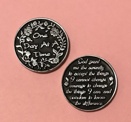 One Day At A Time/Serenity Prayer Token