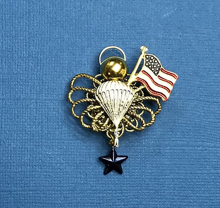 Airborne Blue Star Mother's Angel Pin #788