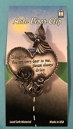 Daughter Angel Heart Visor Clip