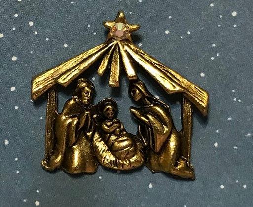 Nativity Angel Pin