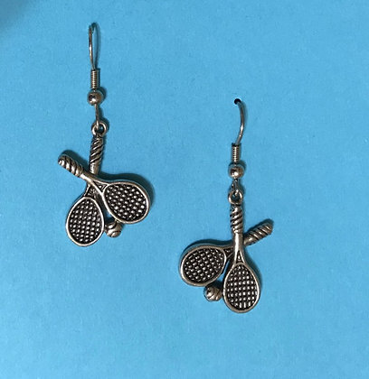 Double Tennis Racket Earrings