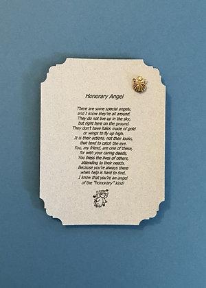 Honorary Angel Poem & Guardian Angel Pin Set #112