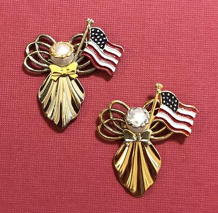 Patriotic Angel Pin 125FLAG