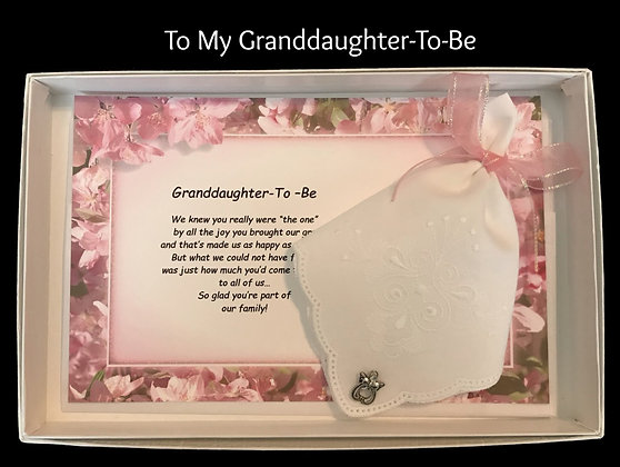 My Granddaughter-To-Be Hankie & Angel Pin Gift Set