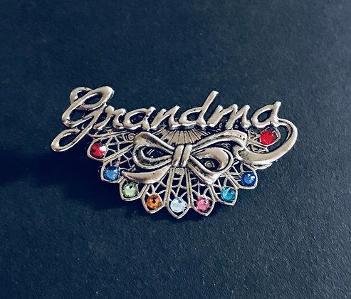 Grandma Birthstone Pin (9 stones) #904