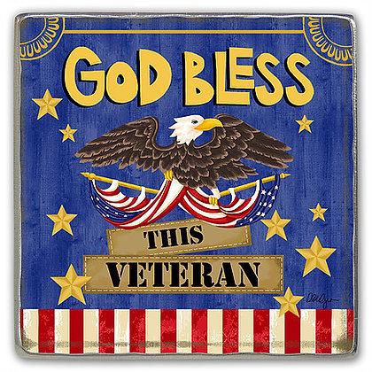 God Bless This Veteran Visor Clip