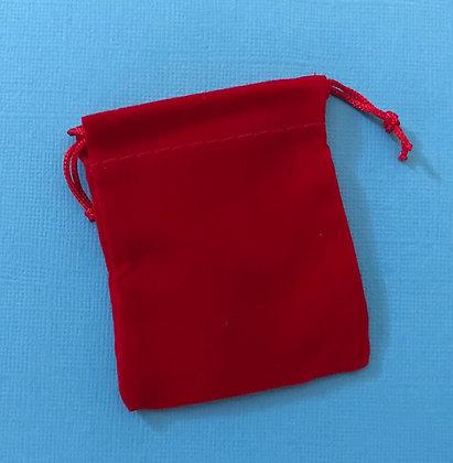 Tiny Red Velveteen Gift Bag