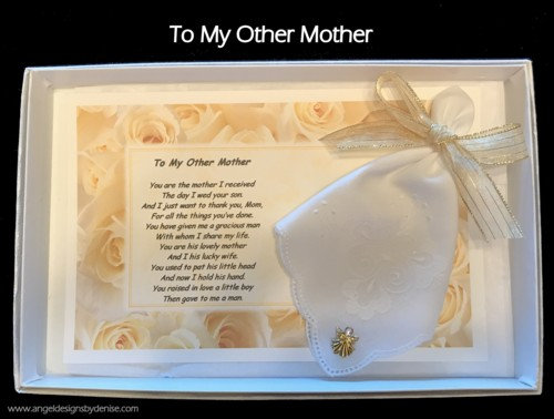 To My Other Mother Hankie & Angel Pin Gift Set
