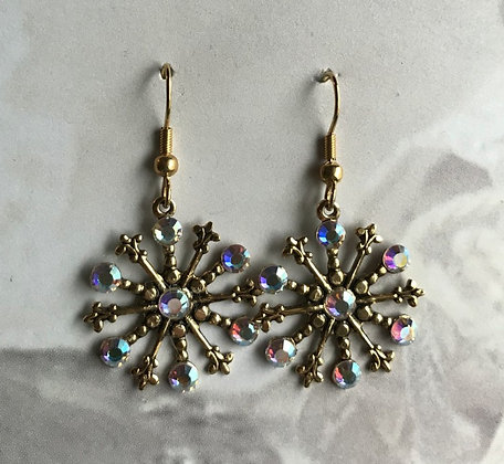 Medium Snowflake Earrings #842EAB